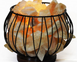 Citrine Crystal Calming Amore Lamp