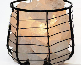 Clear Crystal Rocks Relaxing Capsule Lamp