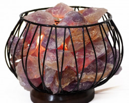 Amethyst Crystal Rock Freedom Amore Lamp
