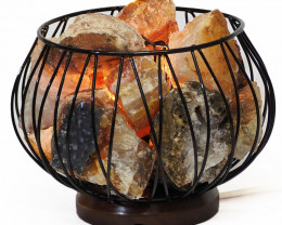 Golden Crystal Rocks Relaxing Amore Lamp