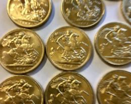 Collectible Queen Victoria Full Gold Sovereign copy 1887-1900 CP 335