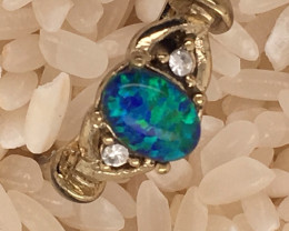 Opal-Man made-  Ring  G/P Adjustable Size  L,N  CSS 500
