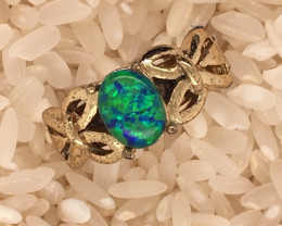 Opal-Man made-  Ring  G/P Adjustable Size  L,N  CSS 502