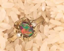 Multi Opal-Man made-  Ring  G/P Adjustable Size  L,N  CSS 505