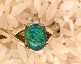 Opal-Man made-  Ring  G/P Adjustable Size  L,N  CSS 508