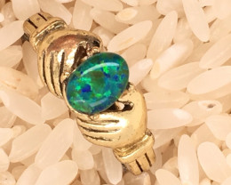 Opal-Man made-  Ring  G/P Adjustable Size  L,N  CSS 510
