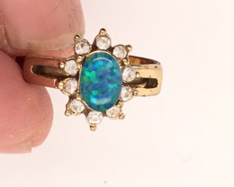 Opal-Man made-  Ring  G/P Adjustable Size  L,N  CSS 512