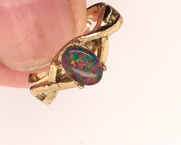 Opal-Man made-  Ring  G/P Adjustable Size  L,N  CSS 513