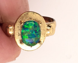 Opal-Man made-  Ring  G/P Adjustable Size  L,N  CSS 514