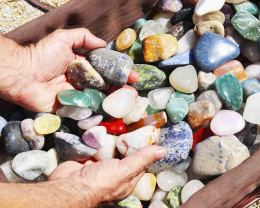 15kg Mixed Gemstones Tumbled Polished