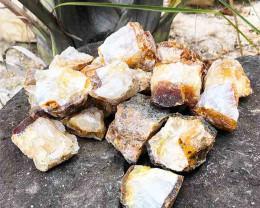 5kg Mix Golden Crystal Rough Parcel