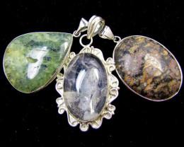 Three Jasper pendant s for price one! MJA 391