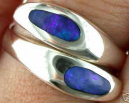 Aust - P Size INLAY OPAL RING SIZE 7-8 EN 575