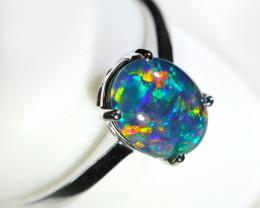 Triplet Opal Rings