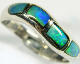 Aust - L Size OPAL INLAY RING SIZE 6.5 SCO606