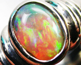 Aust - L Size CRYSTAL OPAL RING SIZE 6.5 18 K WHITE GOLD CK 267