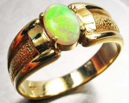 Aust - N Size  CRYSTAL OPAL RING SIZE 7 18 K GOLD CK 288