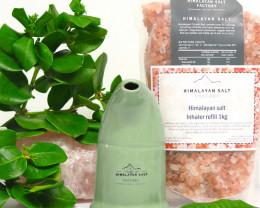 Himalayan Salt Inhaler,Olive Green colour + 1 kg Salt Refill