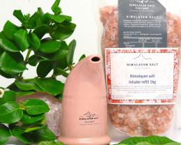 Himalayan Salt Inhaler,Pink  colour + 1 kg Salt Refill