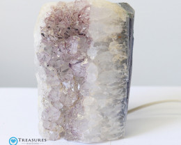 2kg Amethyst Lamp with Hues of Lilac  - O13