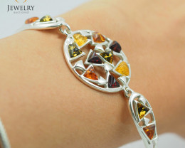 Baltic Amber Sale, Silver Bracelet , direct from Poland AM 1830