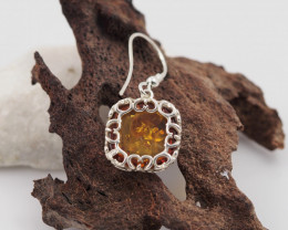 Baltic Amber Sale, Silver Earring , direct from Poland AM 1833