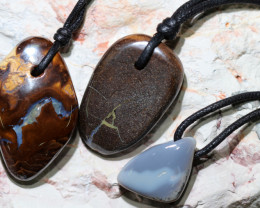Three  Koroit t Boulder opal Pendants BU 2499