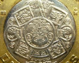 AZTEC SUN GOD COIN PENDANT,SILVER BALE  CP 349