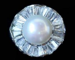 Natural Fresh Water Pearl Ring size  L-   BU  2548
