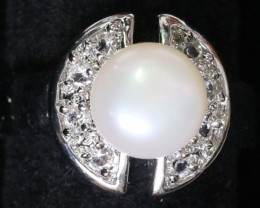 Natural Fresh Water Pearl Ring size  m -   BU  2543