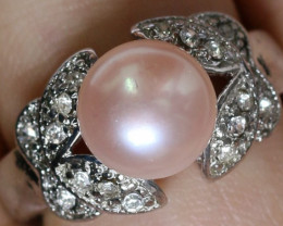 Natural Fresh Water Pearl Ring size  L   -BU  2552