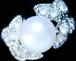 Natural Fresh Water Pearl Ring size  K-  BU  2553