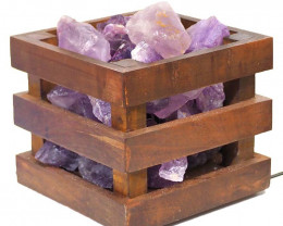 Amethyst Crystal Rock Cubic Lamp