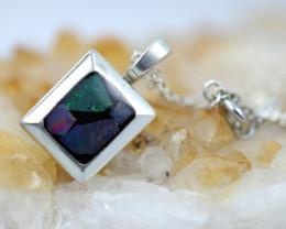 Bright Mosaic Triplet  Opal Pendant emerald Shape BU 2557
