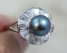 Natural Fresh Water Pearl Ring size  R-  BU  2597