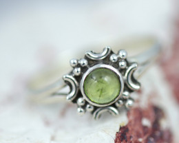 Natural Peridot  Ring size    N-   BU  2605