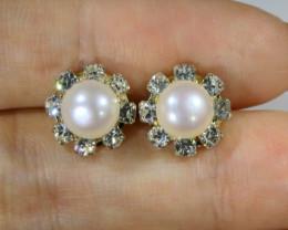 Fresh water pearl earring   BU  2613