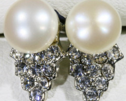8 mm Fresh water pearl earring   PPP 1009
