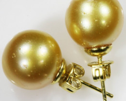 10 MM  Boracy Golden Natural Pair Pearls SB 435