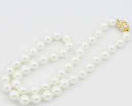 1990  Korean South seas 8 mm pearl necklaces AM 1228