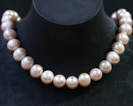 10 mm Oval Champagne strand Pearls PPP180