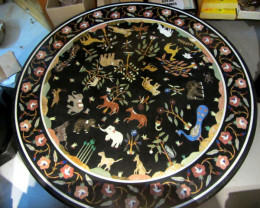 Pietra Dura Inlay Marble Table ,Ancient wild Animals