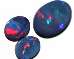 Set three amazing fire opal doublets OPJ 3005