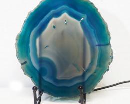0.364kg Sliced Brazilian Crystal Agate Lamp J12