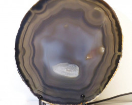 0.55kg Sliced Brazilian Crystal Agate Lamp J40