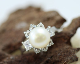 Natural Fresh Water Pearl Ring size P      BU 22644