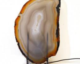 0.52kg Sliced Brazilian Crystal Agate Lamp J45