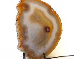 0.55kg Sliced Brazilian Crystal Agate Lamp J46