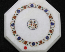 Taj Mahal  White marble gemstone Tops MIG 002