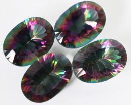 18 cts Four Mystic Quartz Oval Cut  GemstonesbU 2625
